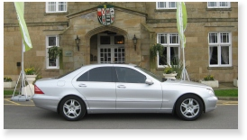 s-class chauffeur driven car hire for corporate event